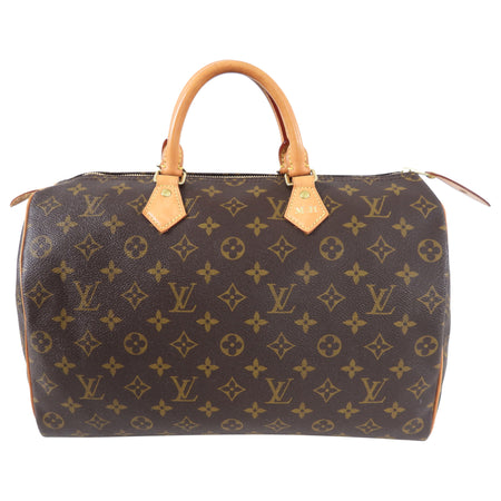 Louis Vuitton Monogram Speedy 35 Boston Duffle Bag