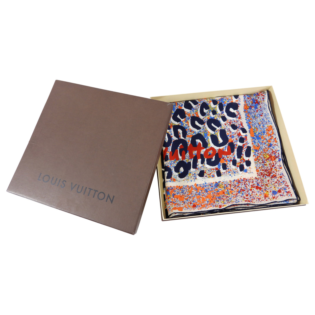 Louis Vuitton Limited Edition Stephen Sprouse Silk Shawl Scarf