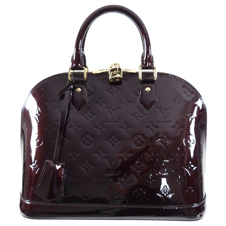 Louis Vuitton Vernis Alma PM in Amarante and GHW