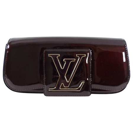 Louis Vuitton Vernis Sobe Clutch in Amarante