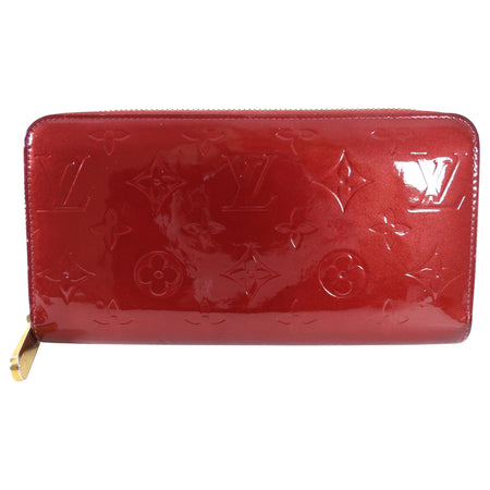 Louis Vuitton Red Vernis Monogram Zippy Continental Wallet