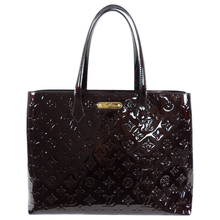 Louis Vuitton Vernis Wilshire MM Tote Bag in Amarante
