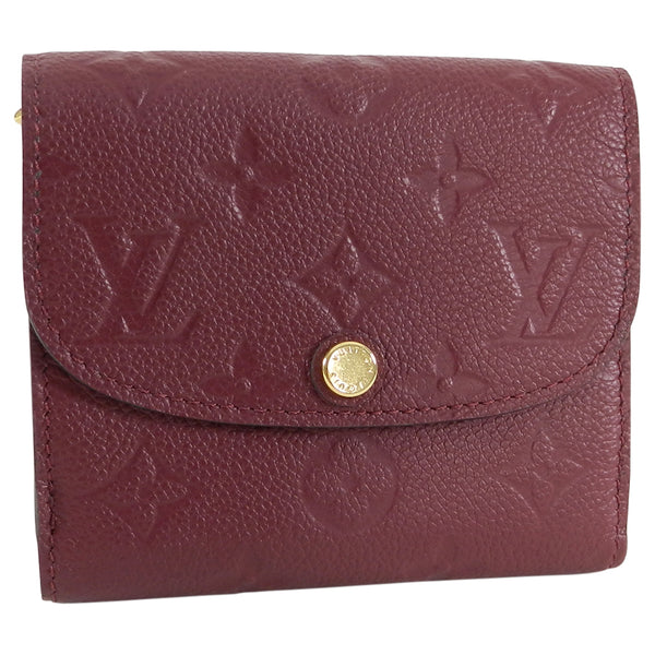 Louis Vuitton Monogram Empreinte Ariane Wallet Raisin
