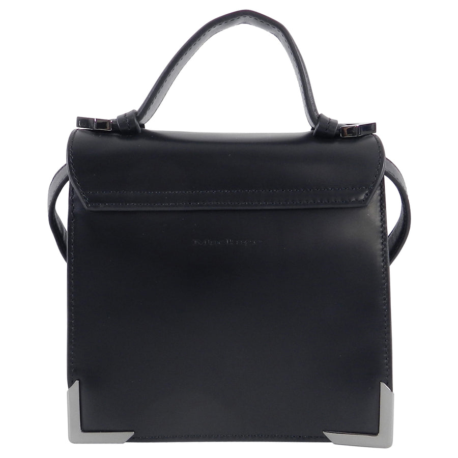 Mackage Mini Rubie Black and Cobalt Blue Crossbody Bag