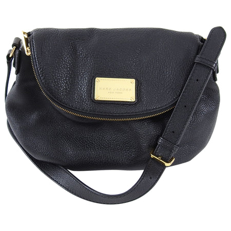 Marc Jacobs Black Grained Leather Crossbody Bag