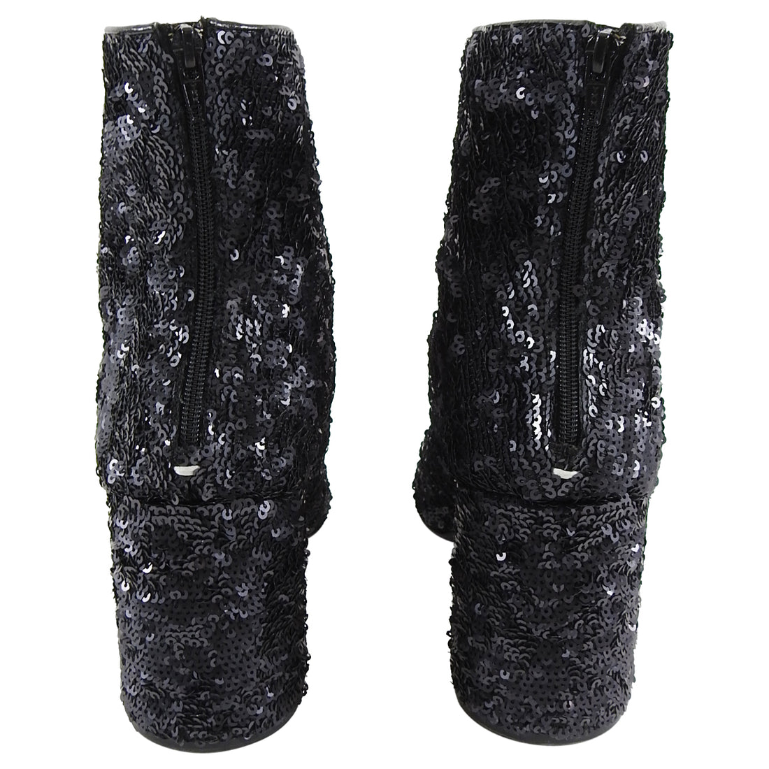 Maison Martin Margiela Black Sequin Disco Ankle Boots - 40