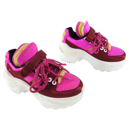 Maison Margiela Fuchsia Retro Fit Chunky Satin Sneakers - 36