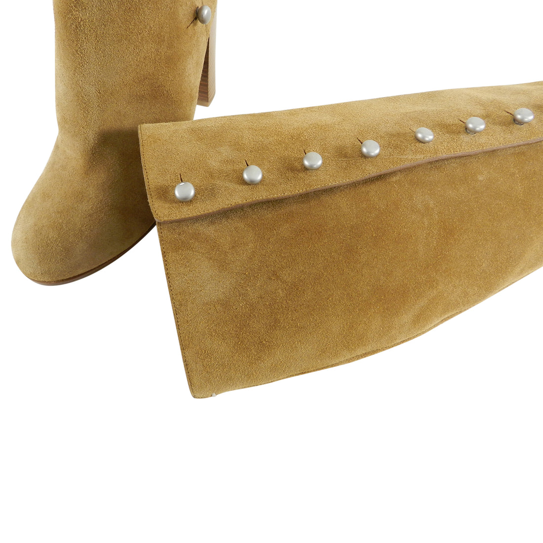 Margiela Tan Suede Buttoned Tall Boots - 40