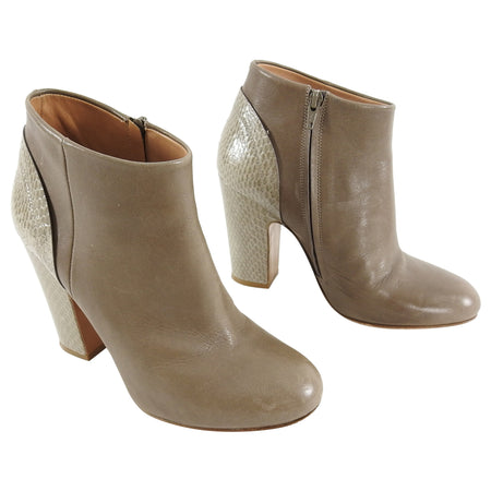 Maison Margiela Taupe Ankle Boots Python Heel - 37