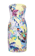 Mary Katrantzou Yellow Patterned Strapless