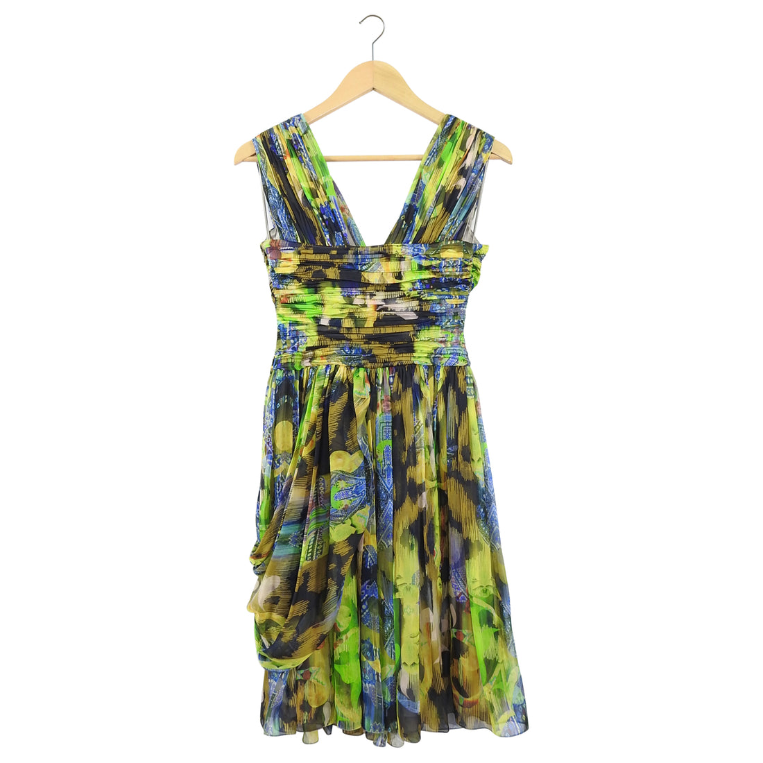 Matthew Williamson Multi Silk Chiffon Cocktail Dress - XS / 0