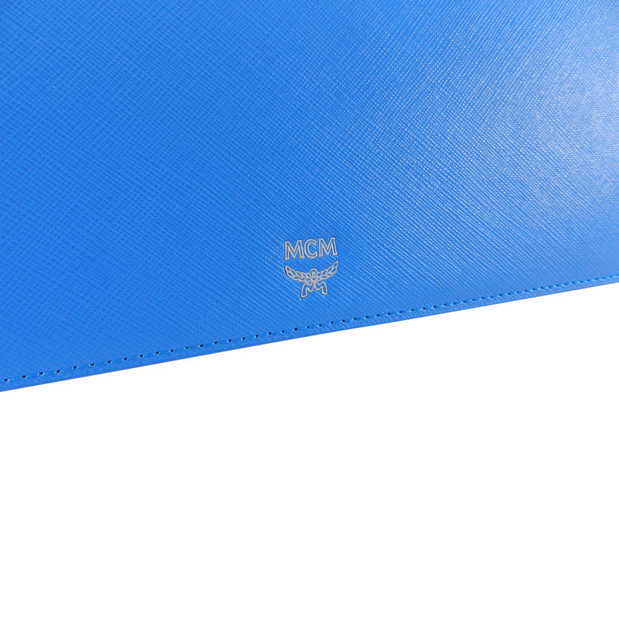 MCM – Blue Saffiano Leather Laptop Case