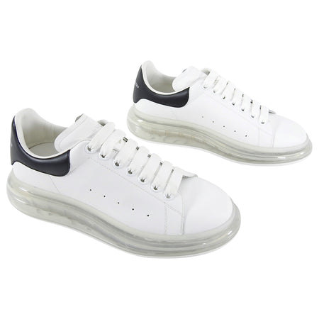 Alexander McQueen Larry Black and White Gel Sole Sneakers - EU 42 / US 9