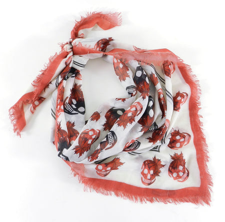 Alexander McQueen Limited Edition 2010 Olympics Maple Leaf Scarf