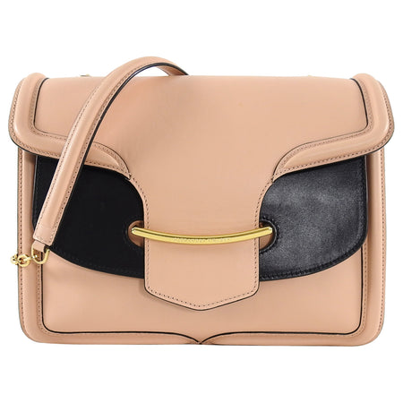 Alexander McQueen Nude and Black Heroine Shoulder Bag