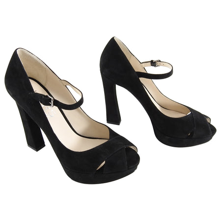 Michael Kors Padova Black Suede High Heels - 8.5