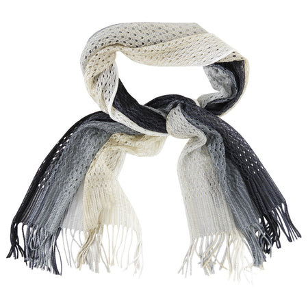 Missoni White Black Ombre Knit Long Scarf