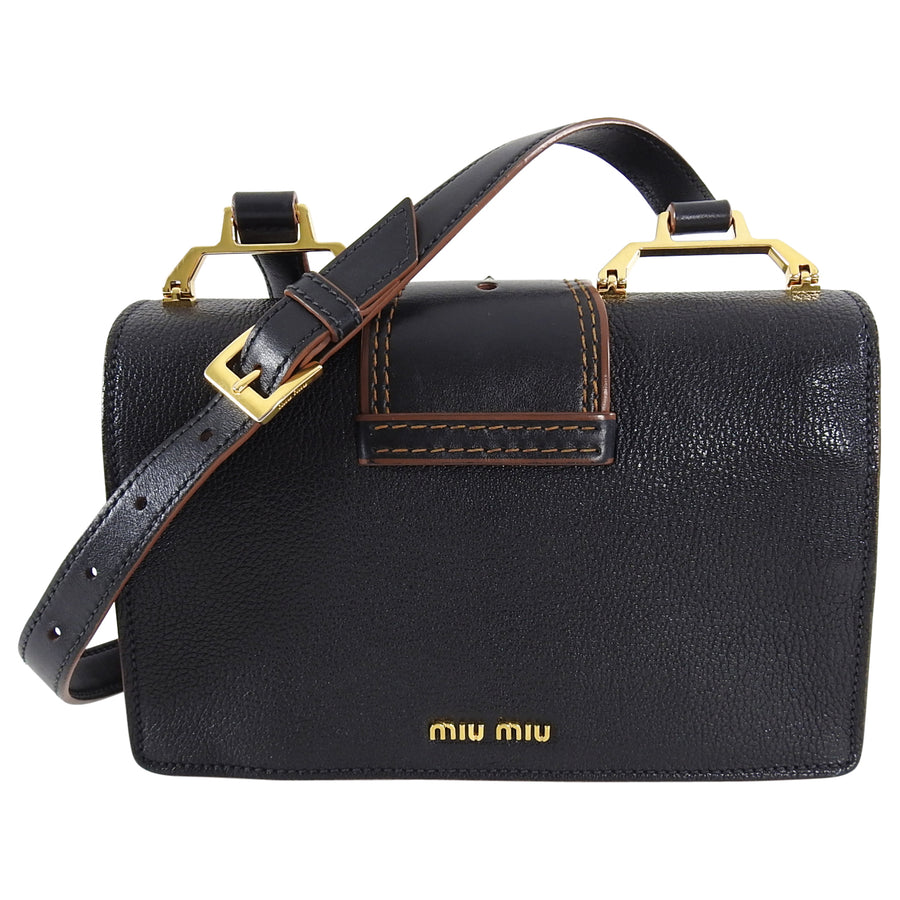 Miu Miu Madras Crystal Jewel Embellished Crossbody Bag