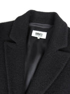 MM6 Black Oversized Short Coat - 36 / 4 / S