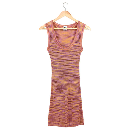 M Missoni Pink Multicolor Sleeveless Knit Tank Dress - IT40 / 4