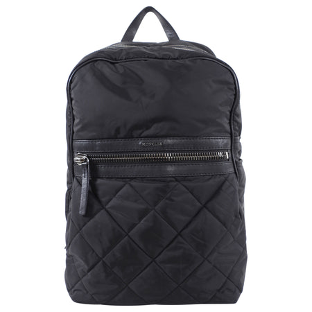 Moncler Black Leather Trimmed Nylon Backpack