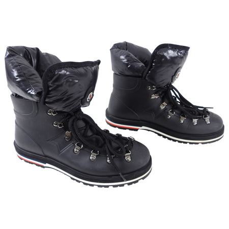Moncler Henoc Rubber and Nylon Puffer Ankle Boots - USA 8
