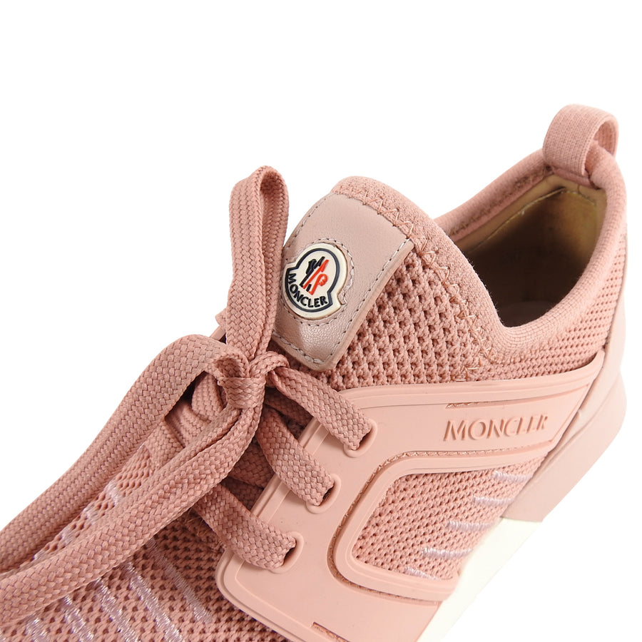 Moncler Pink Mesh and Leather Running Shoes - 6.5