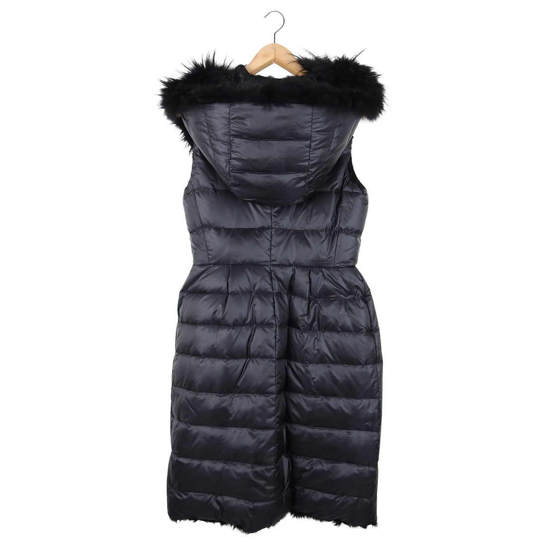 Moncler Gamme Rouge Lamb Fur and Nylon Reversible Sleeveless Coat - S