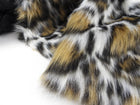 Moschino Couture Plush Faux Leopard Crop Jacket - S