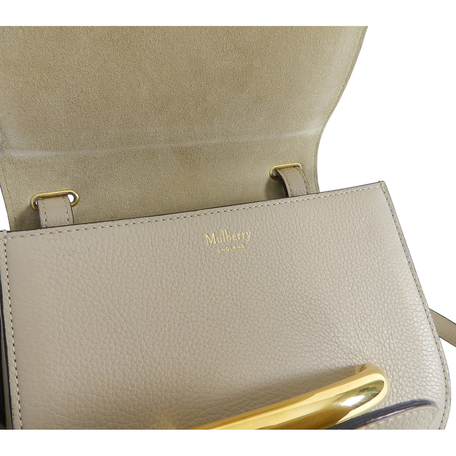 Mulberry Small Light Taupe Selwood Bag with Gold Bar
