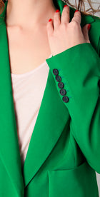 No. 21 Kelly Green Relaxed Fit Blazer Jacket - 8