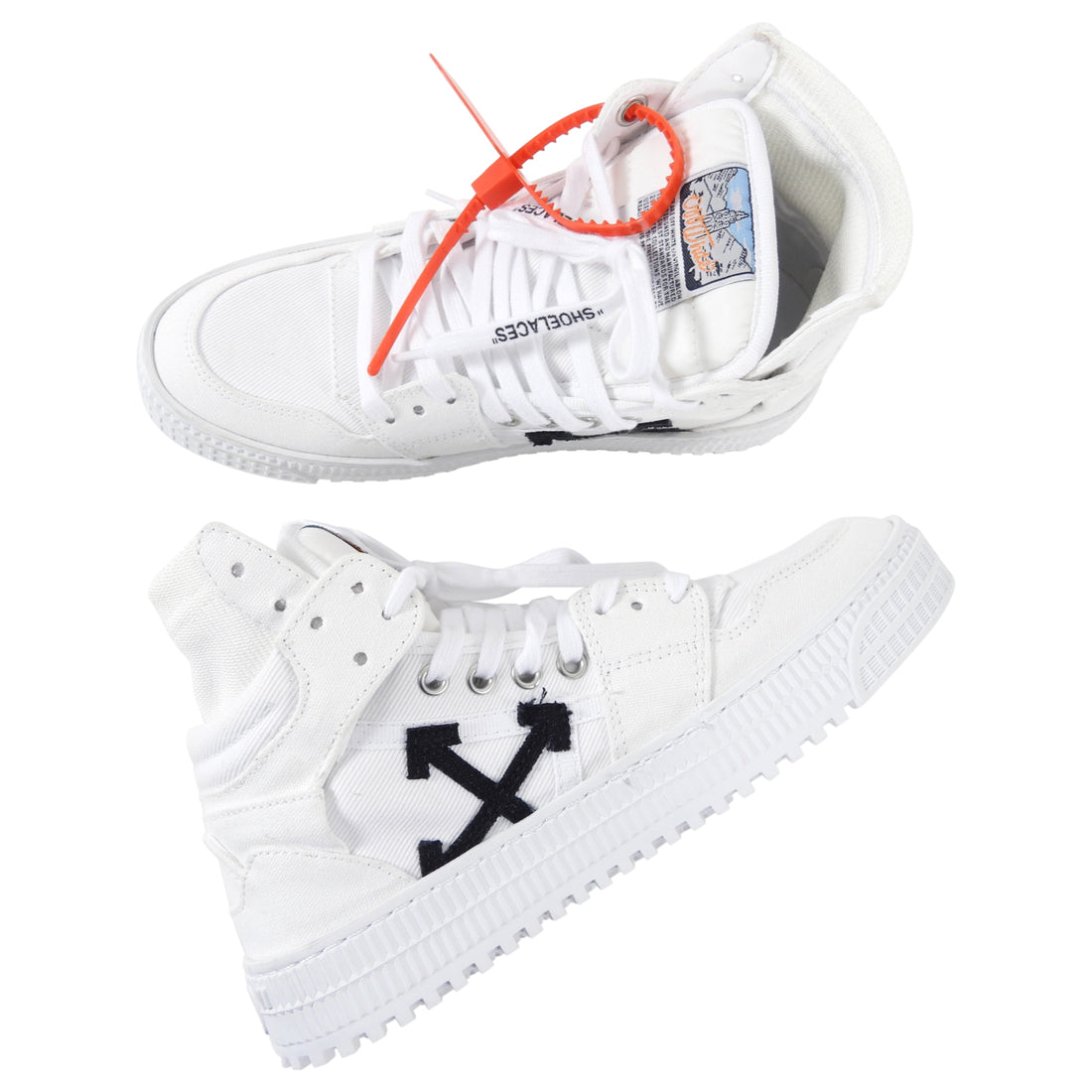 Off-White White Off-Court 3.0 High Top Canvas Sneakers - 37