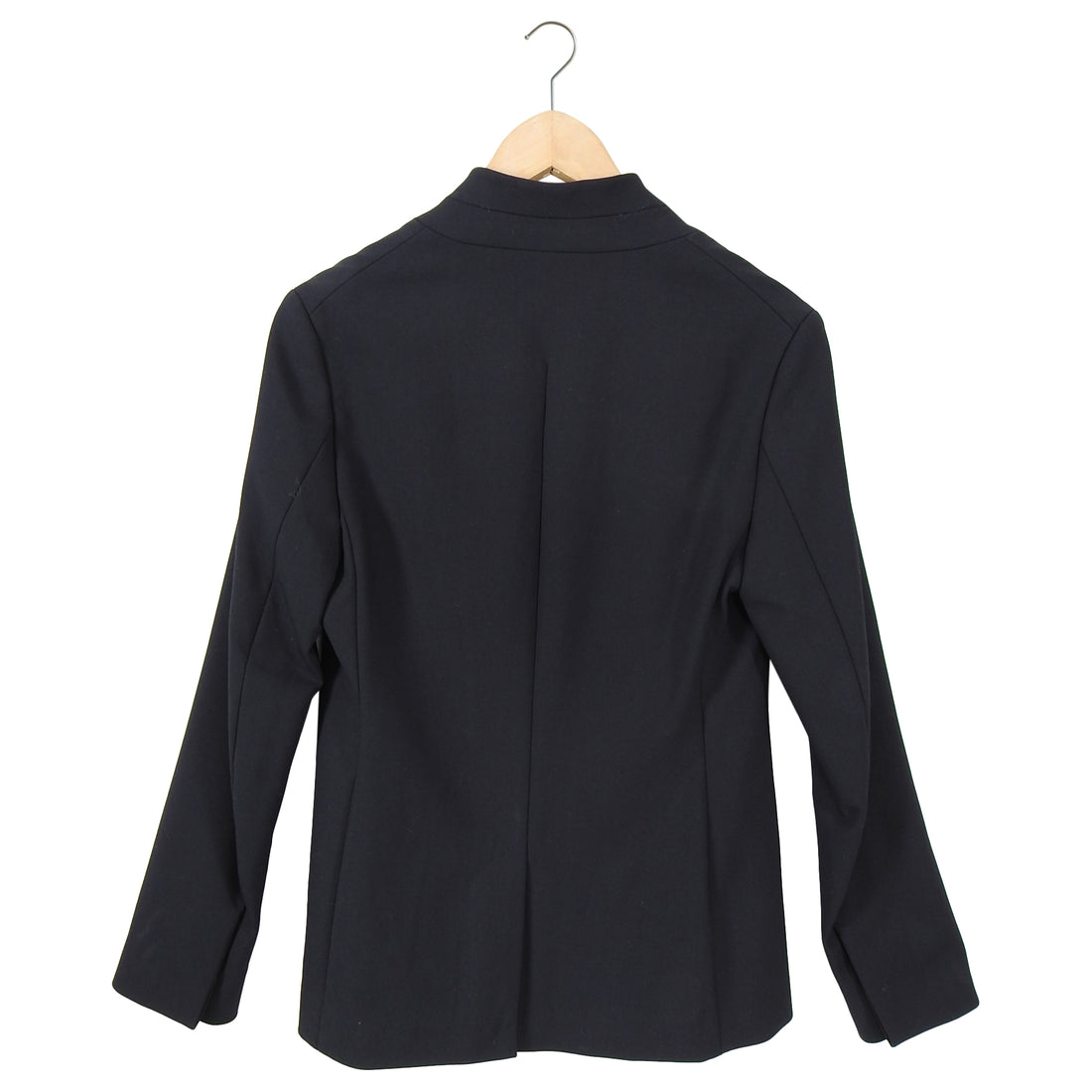 Phillip Lim Black Minimal Fitted Zip Front Jacket Blazer - 6