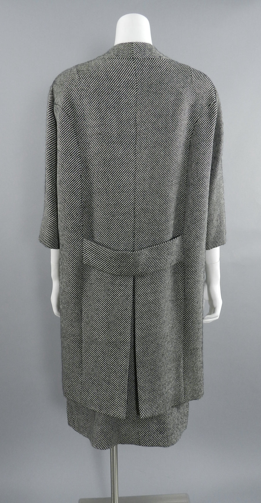 Pierre Cardin Jeunesse 1960's Black and White Tweed Wool Skirt and Coat Set