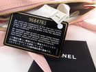 Chanel 2004 Small Pink Patent Leather Triple CC Zippered Tote Bag