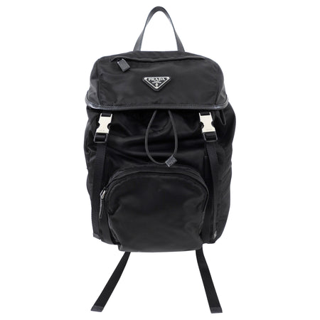 Prada Black Nylon Tessuto 2020 Backpack