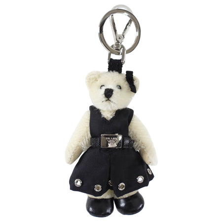 Prada Linda Bear Tessuto Black Dress Bag Charm