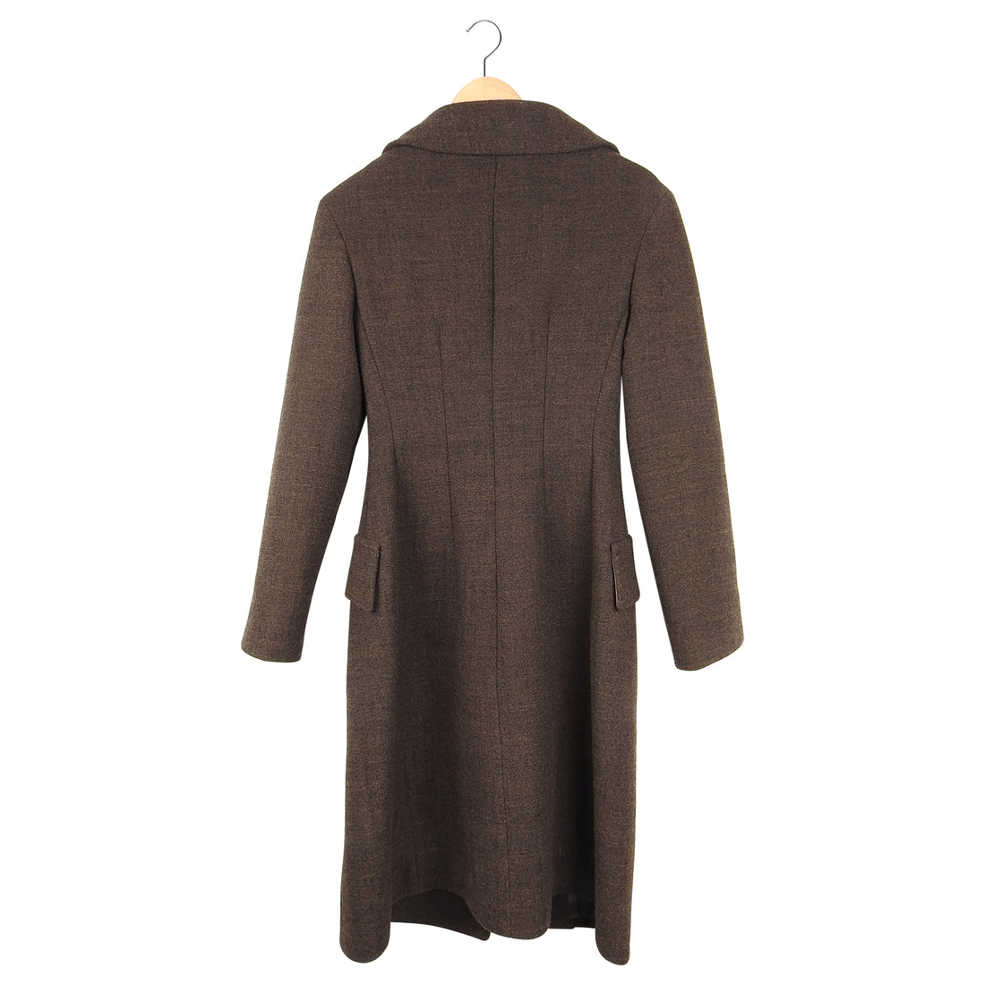 Prada Brown Fitted Wool Coat - IT38 / USA 2 / XS