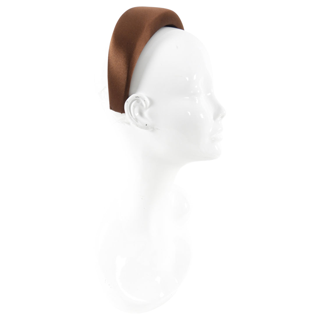 Prada Brown Silk Satin Wide Headband