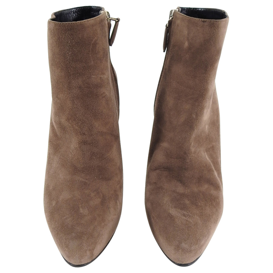 Prada Light Brown Suede Ankle Boots - 37.5