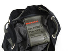 Prada Sport Red Stripe Vintage 1990's Black Nylon Small Drawstring Bag