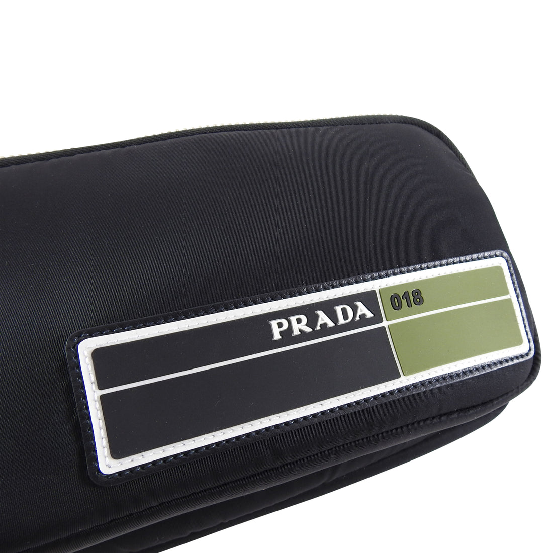 Prada Fall 2019 Technical Fabric Pouch Black Nylon Bag