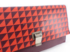 Proenza Schouler Red Geometric Leather Mini Lunch Clutch Bag