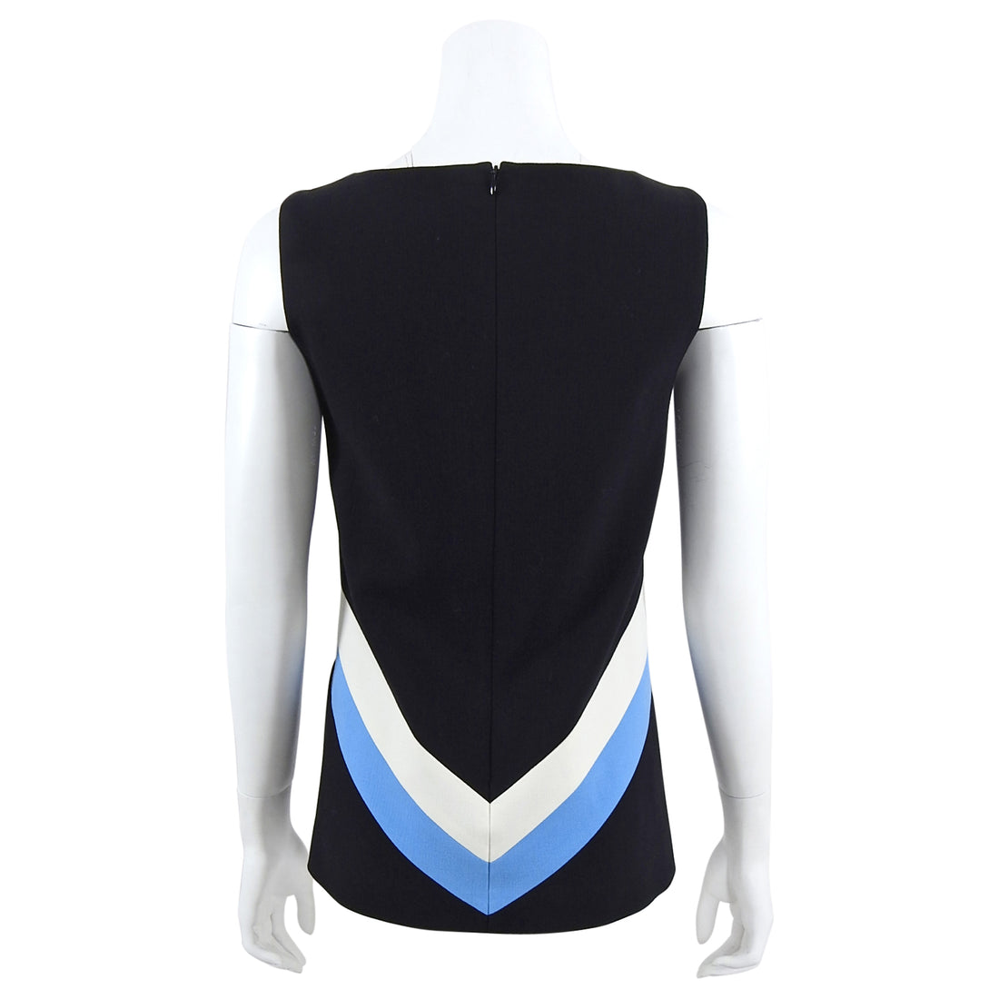 Emilio Pucci Black and Blue Geometric Sleeveless Top - IT40 / USA 4