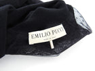 Emilio Pucci Black Wool Lace Inset Turtleneck Sweater - S