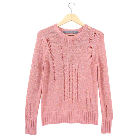 Raquel Allegra Pink Long Sleeve Sweater - SRaquel Allegra Pink Long Sleeve Sweater - S