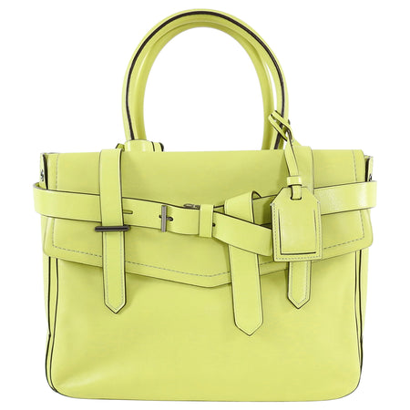 Reed Krakoff Neon Lime Green Large Boxer Tote Bag