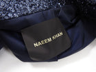 Naeem Khan Midnight Sequin Cropped Biker Jacket - 6