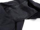 Rick Owens Black Zip Front Fitted Light Wool Jacket - 8