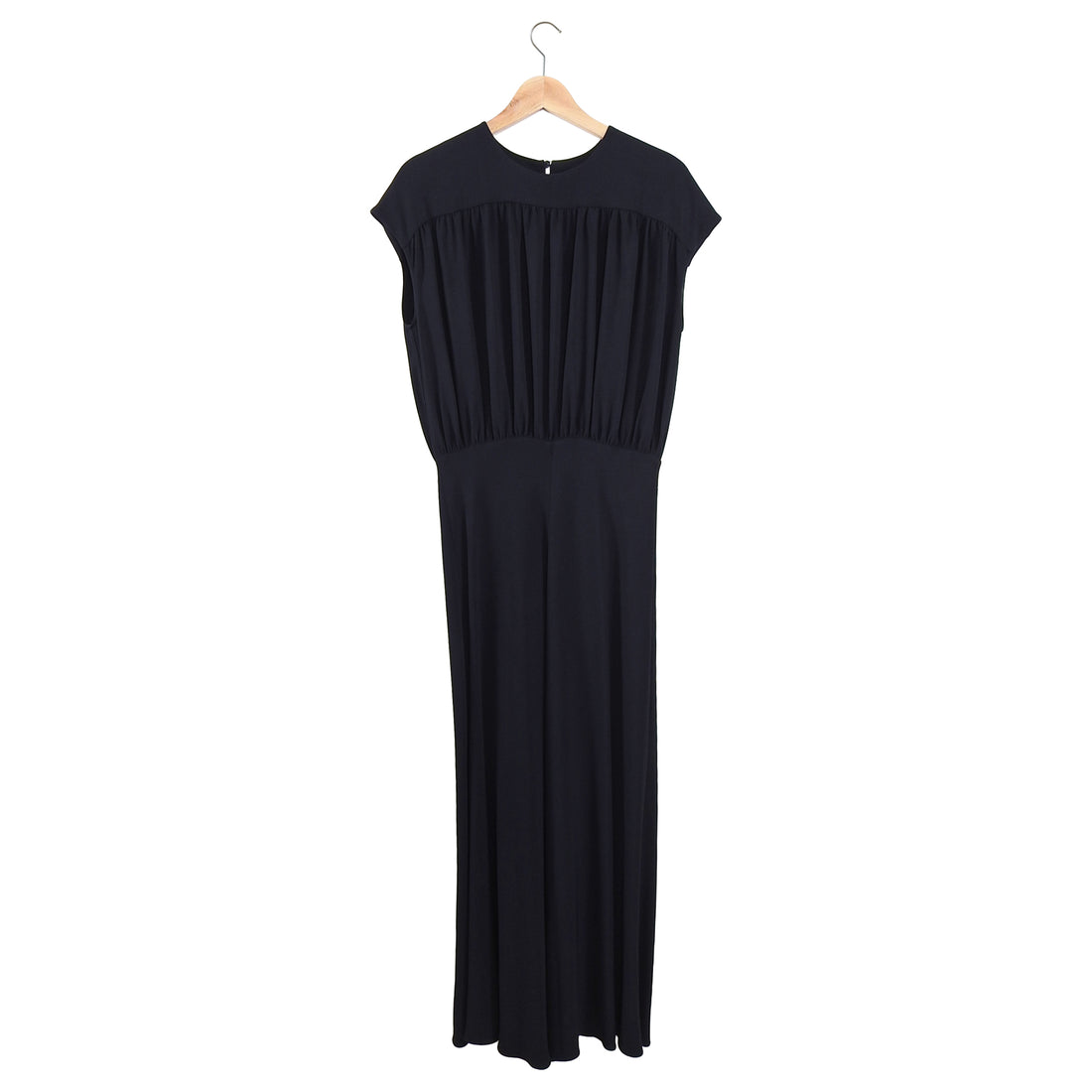 Rochas Black Long Rayon Evening Gown - 8